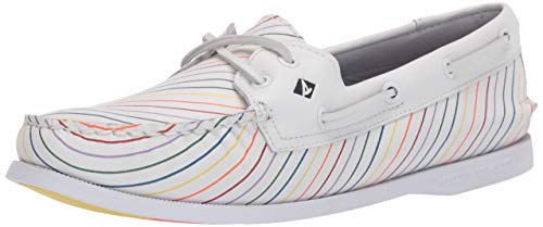 Sperry Women's Authentic Original Boat Shoe, Pride, 11