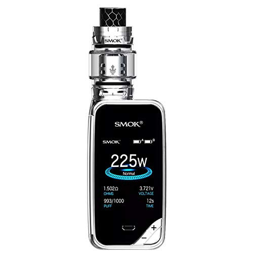 Authentique Smok Mag 225W TC Mod Kit Version Droitier Avec TFV12 Prince Tank Édition Standard Cigarette Electronique Kit Complet Sans Tabac Ni Nicotine (Noir/Gunmetal)
