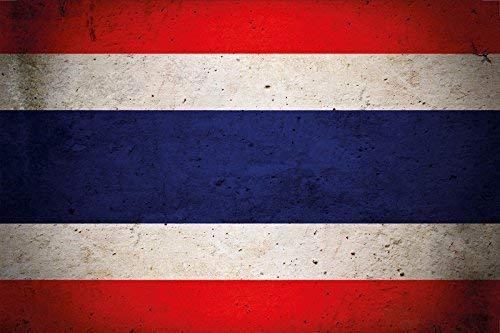 Thailand Fahne Flagge Flag Blechschild Schild Blech Metall Metal Tin Sign 20 x 30 cm CC0028