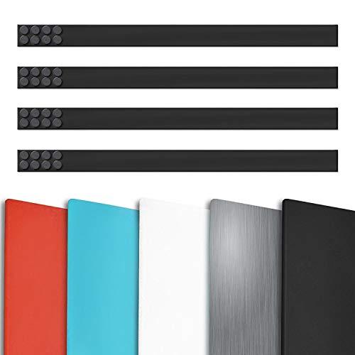 Magnetleiste Büro im 4er Set | inklusive Magneten | als Magnet Wandleiste für Fotos, Dokumente, Notizen | selbstklebend, wahlweise 50 cm oder 100 cm Länge | viele Farben (Schwarz, 50 cm Länge)