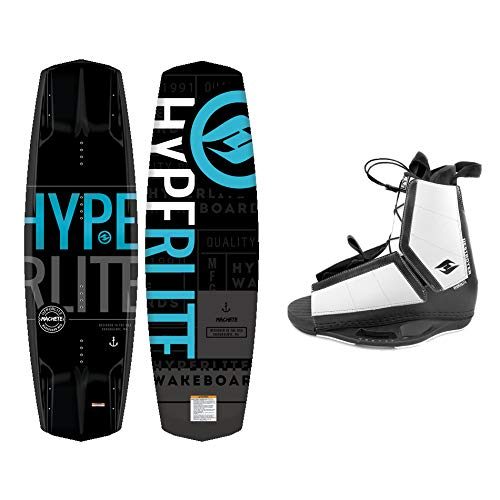 Hyperlite New 2021 Wakeboard Machete with Destroyer Wakeboard Bindings Fits Shoe Sizes 7-14! (144 cm)