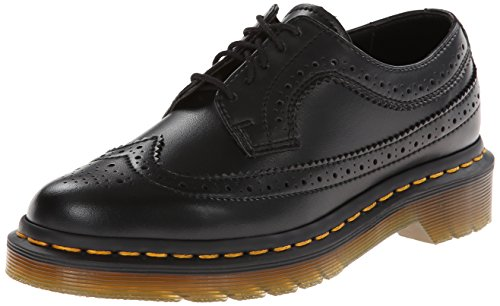 Dr. Martens 3989 Felix Rub Off, Scarpe stringate modello Brogue Donna, Nero, 43