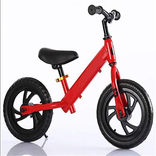 XRQ Neumáticos De Espuma, Equilibradores Sin Pedal para Niños, Herramientas De Viaje para Niños, Scooters,Rojo