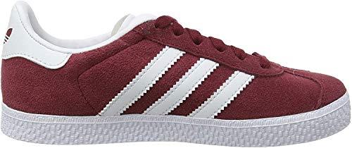 Adidas Jungen Gazelle C BY9549 Sneaker, Rot (Buruni/Ftwbla/Ftwbla 000), 33.5 EU