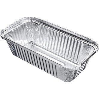 Take Away/Cafe/cas rectangulaire en aluminium boîte – 688 ml 200 x 109 mm (Lot de 500) – Simple jetables alimentaire Service, idéal pour une utilisation professionnelle ou les fêtes