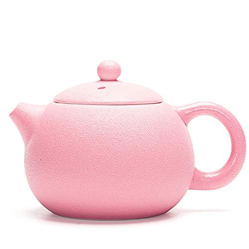 GYZD Tetera Tetera de té de Porcelana con la Tetera de Hoja Suelta floreciente Tetera roja de Mango de Kung fu Juego de té de fabricación de Tetera (210ml),Rosado