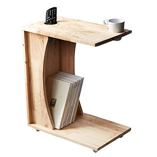 BINGFANG-W El Ordenador portátil representa Escritorio de Madera Maciza multifunción Sofá Mesita Estantería Estantería Puede moverse de la Sala Dormitorio, de Alta los 61CM Pequeña