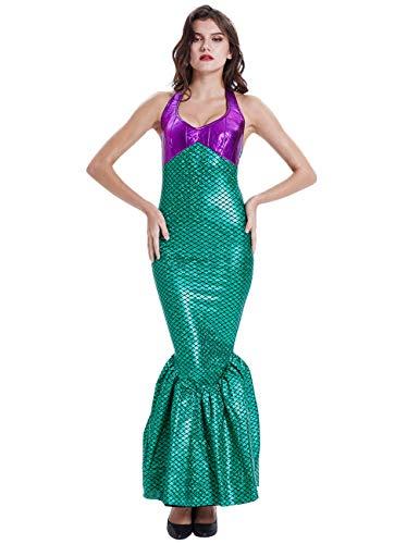ShiyiUP Disfraces para Halloween Vestido de Sirena