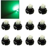 10 bombillas LED T3 de 12 V 0,2 W para panel de instrumentos – Neo Wedge LED lámpara de coche bombillas para salpicadero T3 Cluster Gauges Panel LED (verde)