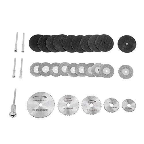 30 Uds HSS hojas de sierra para herramientas rotativas, discos de corte y mandriles, hoja de corte para herramientas rotativas, 22/25/32/35/44mm