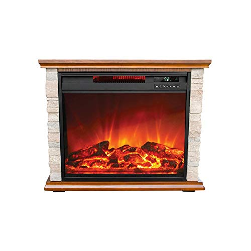 LifeSmart FP1136 Large Room Quartz Infrared Electric Fireplace Space...