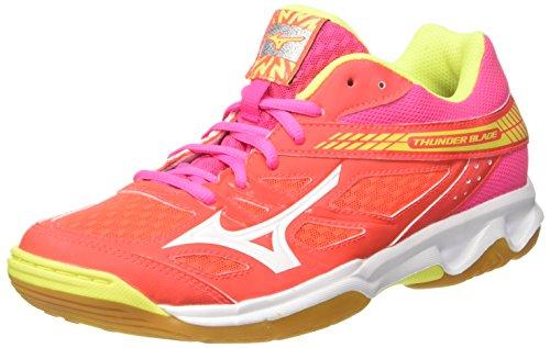 Mizuno Thunder Blade Wos, Zapatillas de Running Mujer, Multicolor (Fierycoral/White/fuchsiapurple 46), 38 EU