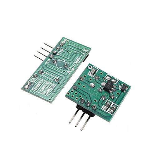 1pcs 433Mhz émetteur RF et kit récepteur Prise d'alimentation et branchez l'adaptateur pour le projet Arduino