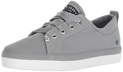 Price comparison product image Sperry Girls' Crest Vibe Canvas Sneaker,  Grey,  5 Medium US Big Kid