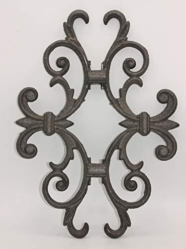 UHRIG ® Ornament schmiedeeisen Eisenguss Gartendeko Blumenranke Edelrost Jugendstil #644