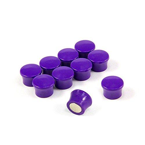 Magnet Expert® F4M18PU-10 Petit Violet Puissance « Memo » Conseil aimants-Bureau & frigo (17,5 mm dia x 12,3 mm de Hauteur) Paquets de 10, Argent