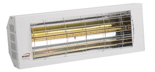 Burda SMART Infrarot-Kurzwellen-Heizstrahler, weiß mit 1,5 kW Leistung