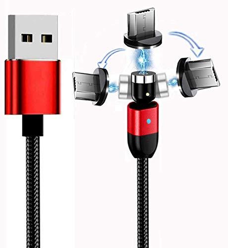 Top-Longer Cable USB Magnético con LED, Cable Magnetic de Carga Cargador iman...