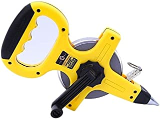 Portable Tape Measure For Engineering, Unwinding Tape Measure 100M, Tape Measure Tool With Grounding Nail And Handle Steel...