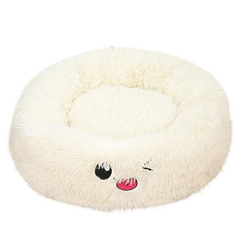 Pet Nest Bett für Katze,Hundekissen Flauschig Katzenbett Set mit Decke,Rutschfestes und Weiches Rundes Katzen Schlafsofa Katze Schlafen Betten für Katzen und Welpen