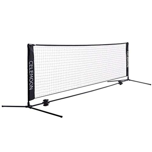 Portable Badminton Net Adjustable Foldable Badminton Replacement Net Standard Size Badminton Net Sports Equipment Net for Indoor or Outdoor Court Backyard Schoolyard Pool Beach Driveway