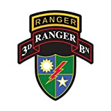 fagraphix 3rd Ranger BN with 75th Ranger Regiment Insignia Sticker Decal Self Adhesive Battalion Sleeve Rangers 3D 4.00' Wide