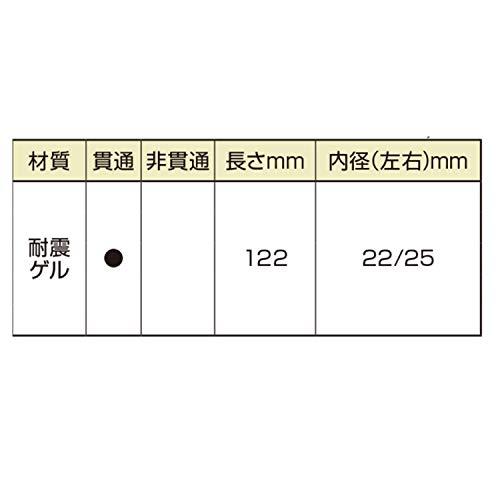 『デイトナ PROGRIP (プログリップ) バイク用 ハンドル グリップ 122mm φ22/25 レッド エンド貫通 耐震GEL 838 X-SLIMタイプ 98152』のトップ画像
