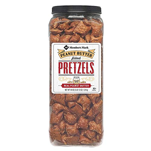 Members Mark Peanut Butter Filled Pretzels  Set of 2 X 44oz Jars  Party/Family Size