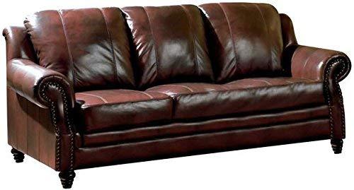 Hot Sale Princeton - Tri-Tone Burgundy Leather Sofa by Coaster