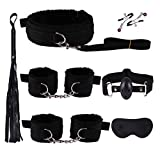 YeeWrr Private Secret Tools Set Bōňdägé ajustable, S & x juegos, cuerda de tobillo y esposas, kit de fitness, negro