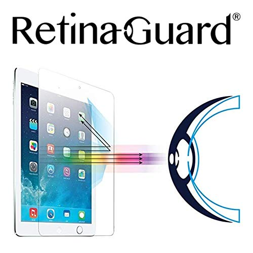 Lowest Prices! RetinaGuard 2018 iPad Anti UV, Anti Blue Light Tempered Glass Screen Protector Compat...