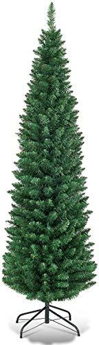 Giantex HOMGX - Lápiz Artificial de Navidad, árbol de Pino con bisagras de...