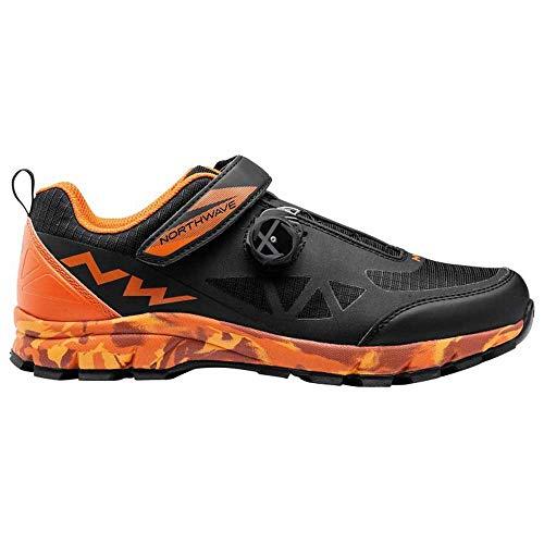 Northwave Corsair MTB Trekking Fahrrad Schuhe schwarz/orange 2021: Größe: 45