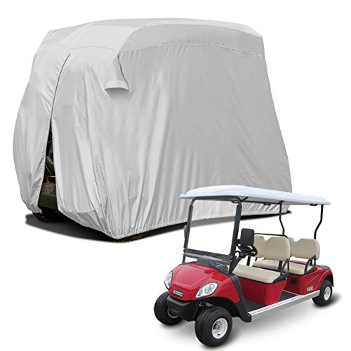 "Sunnyglade 4 Passenger Waterproof Golf Cart Cover Roof 80"" L, Fits EZ GO, Club Car Yamaha, Dustproof Durable (Silver)"