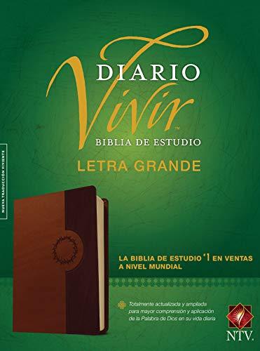 Biblia de Estudio del Diario Vivir Ntv, Letra Grande, Tutone