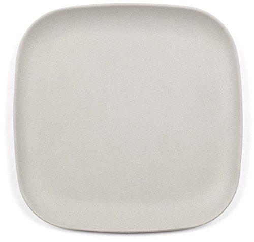 """Bamboozle 9.5"""" Elegant Bamboo Lunch Plates, Set of 4, Grey"""