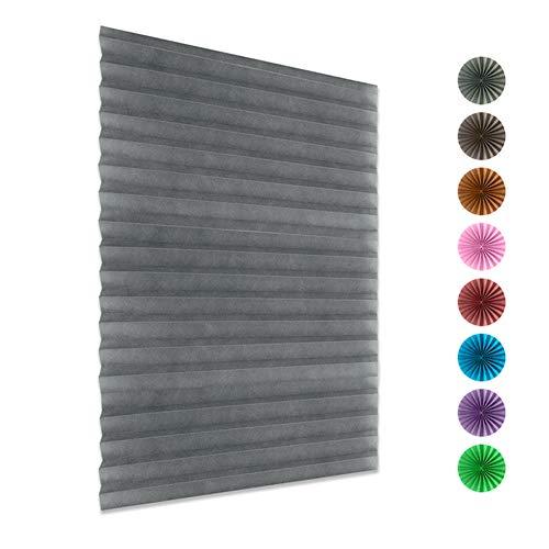 Bigsweety Plissee Jalousien Rollo Fensterschirm Venetian Curtain No Drilling Installieren Sie Sunlight Blackout