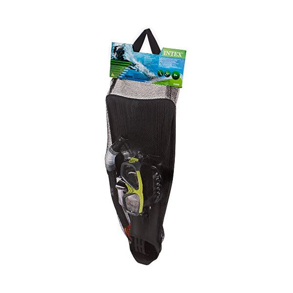Intex 55959 Surf Rider Snorkel, Mask and Flippers Diving Kit Adult Size