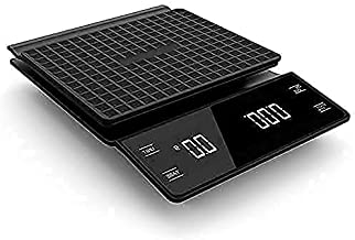 Coffee & Kitchen Scale with Timer 3kg/0.1g High Precision Pour Over Drip Espresso Scale with Back-Lit LCD Display, Compact...