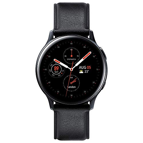 Samsung Galaxy Watch Active2 (44mm), Black (Stainless Steel - LTE Unlocked) - SM-R825USKAXAR (US Version & Warranty) (Renewed)