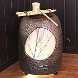 信楽焼 瑞光 湧き水つくばい 電動つくばい つくばい 陶器かけひ 蹲 循環式つくばい ウォーターオブジェ dt-0005