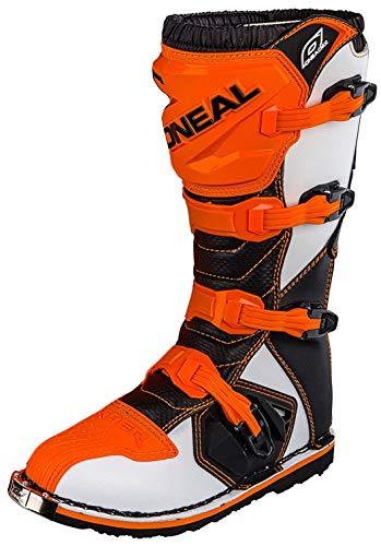 O'Neal Rider Boot MX Stiefel Orange Moto Cross Motorrad Enduro, 0329-3, Größe 43