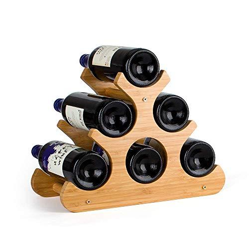 Komost Bambus Weinregal, Tischplatte Weinregal, Arbeitsplatte Display Wein Halter, natürliche Feste Bambus Weinflasche Organizer für Home Kitchen Bar