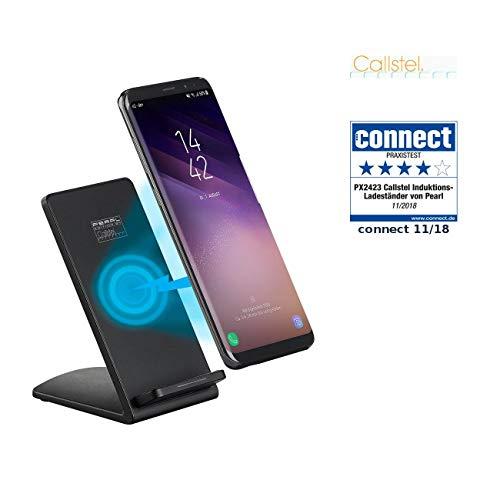 Callstel Ladestation Induktion: Induktions-Ladeständer für Qi-kompatible Smartphones, 1A, 5 W, schwarz (Charger)