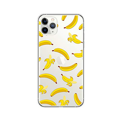 iPhone 11 Pro Max (6.5 inch) Case,Blingy's Fruits Style Transparent Clear Soft TPU Protective Case Compatible for iPhone 11 Pro Max 6.5' 2019 Release (Banana)