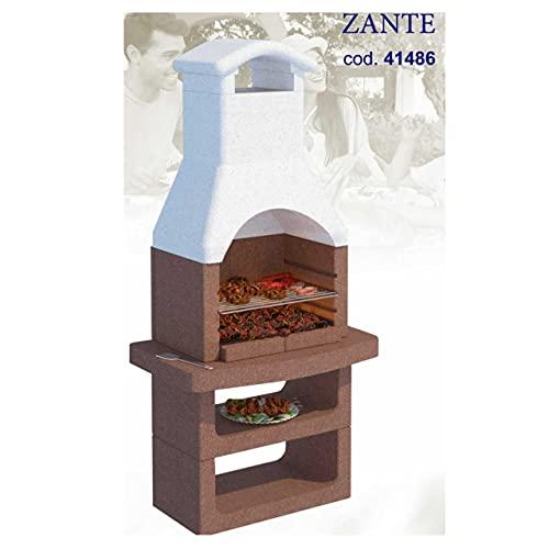 Barbecue in muratura da Giardino Esterno LINEA VZ modello ZANTE, funziona a...