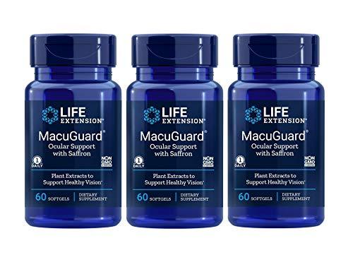 Life Extension Macuguard Ocular Support, 60 Softgels 3 Bottle Pack