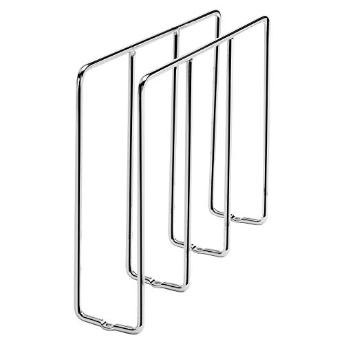Rev-A-Shelf 596-10CR-52 U-Shaped Tray Divider Bakeware Cookie Sheet Organizer for Wall or Base Kitchen Cabinets, Chrome