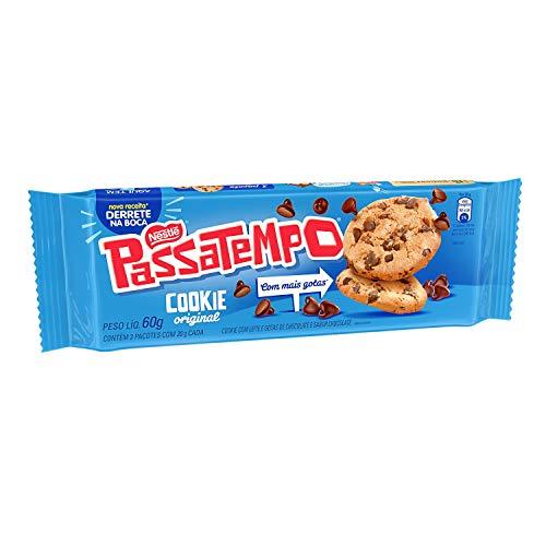 Cookie, Leite com Gotas de Chocolate, Passatempo, 60g