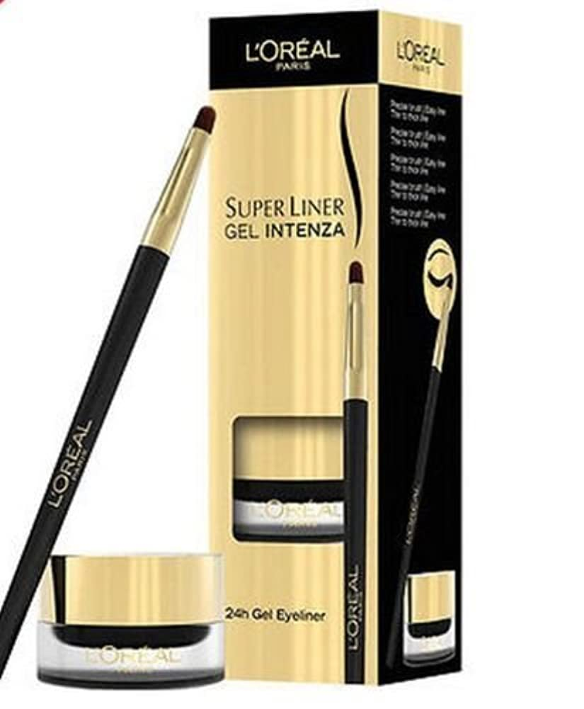 感心するつぼみ受取人Loreal Super Liner Gel 24hr Intenza Eyeliner Pure Black 01